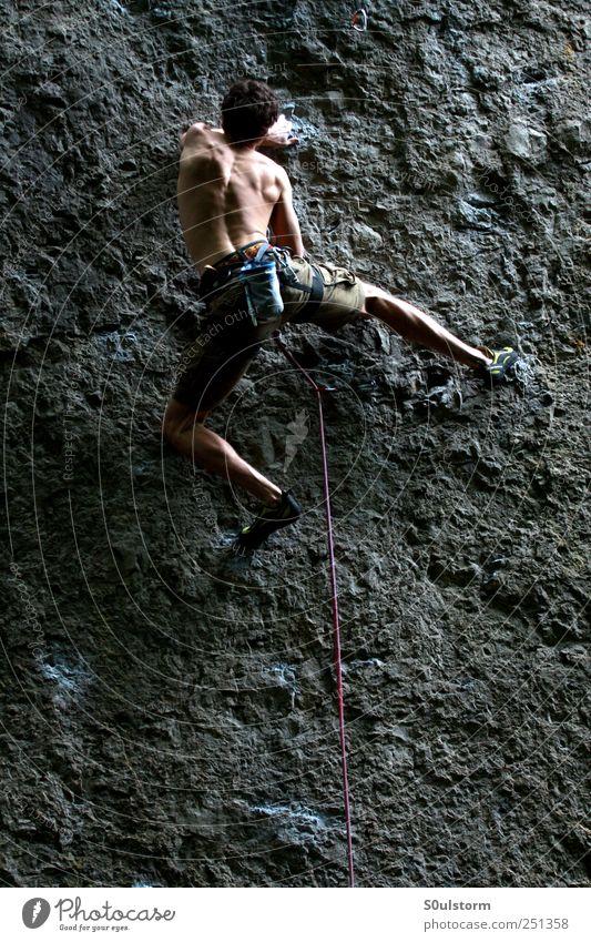 Ankatal 1 Mensch Freiheit Felsen Klettern Fitness sportlich Bergsteiger Leistung