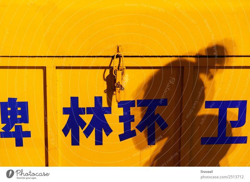 chinesische Müllhalde in einer Gasse. Lifestyle Ferien & Urlaub & Reisen Tourismus Ausflug Nachtleben Frau Erwachsene Kunst Kleinstadt Stadt Hauptstadt Straße