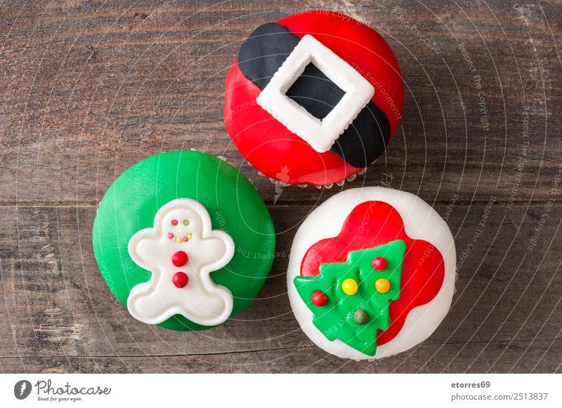 Weihnachtskuchen auf Holzuntergrund Lebensmittel Kuchen Dessert Gesunde Ernährung Ferien & Urlaub & Reisen Dekoration & Verzierung Feste & Feiern