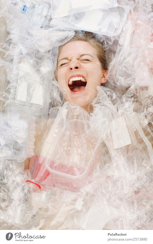 #A# 1-6-0-0-Plastik Kunst ästhetisch chaotisch Fortschritt Gefühle Handel Kreativität Statue Skulptur Kunststoff Plastiktüte Plastikfigur Plastikbecher
