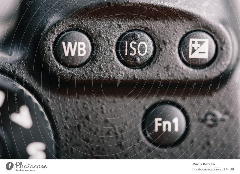 Weißabgleich, ISO und Belichtungstasten an der Digitalkamera Hardware Videokamera Fotokamera Technik & Technologie Zeichen Schriftzeichen Ziffern & Zahlen