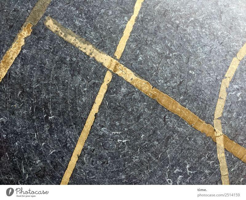 Geometrische Übungen Bodenbelag Kunststoff Zeichen Schilder & Markierungen Linie Streifen Klebeband leuchten eckig Ordnungsliebe Überraschung Misstrauen Design