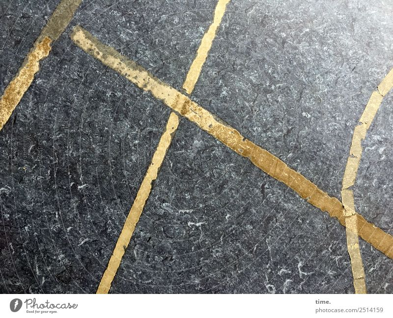 Geometrische Übungen Stadt Ferne Wege & Pfade Design Linie leuchten Kommunizieren Schilder & Markierungen Zeichen Bodenbelag Sicherheit Streifen Zusammenhalt