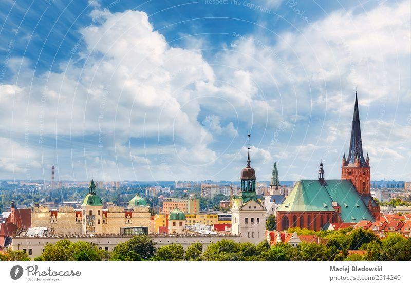 Panoramablick auf die Innenstadt der Stadt Szczecin. Ferien & Urlaub & Reisen Tourismus Sightseeing Städtereise Sommer Himmel Stadtzentrum Altstadt Skyline