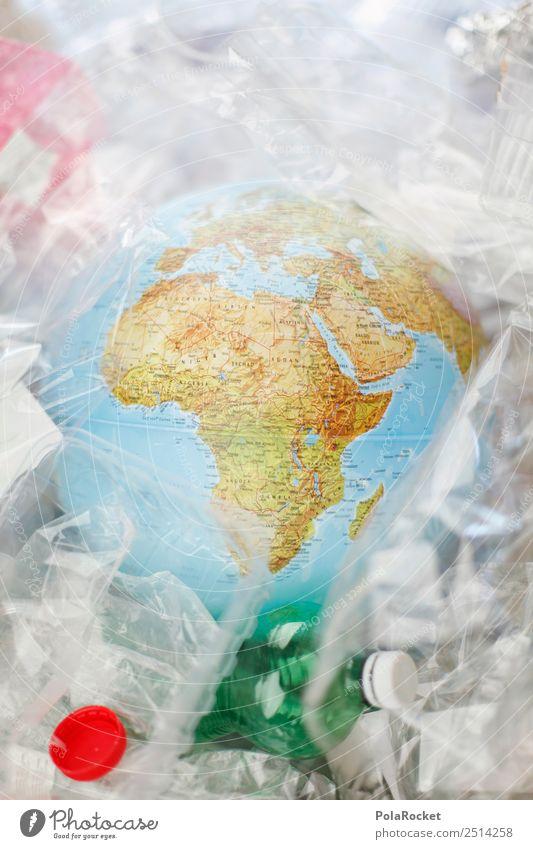 #A# Welt im Müll Kunst ästhetisch Erde Planet nachhaltig Statue Kunststoff Plastiktüte Plastikhülle Plastikwelt Verpackung Verpackungsmaterial Müllverwertung