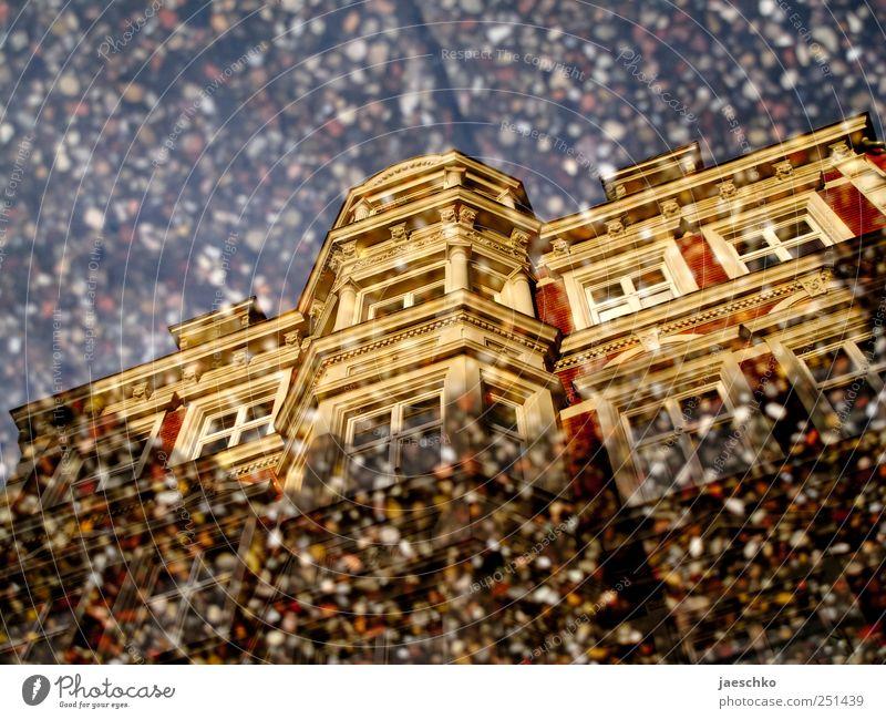 Waschbetonoptik Lüneburg Altstadt Haus Gebäude Architektur Fassade ästhetisch historisch schön Pfütze Spiegelbild Barock Wohnhaus Mehrfamilienhaus Stadthaus