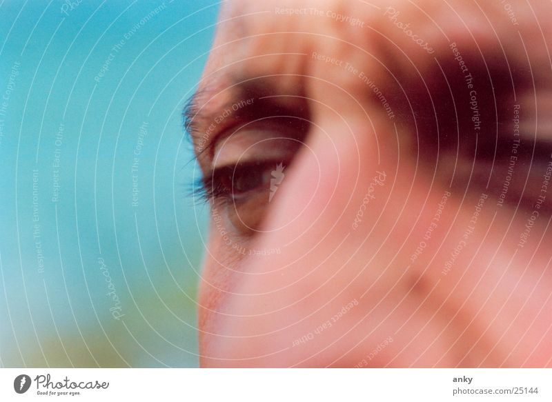 der denker Mann Gedanke Porträt Nahaufnahme Auge nackdenklich