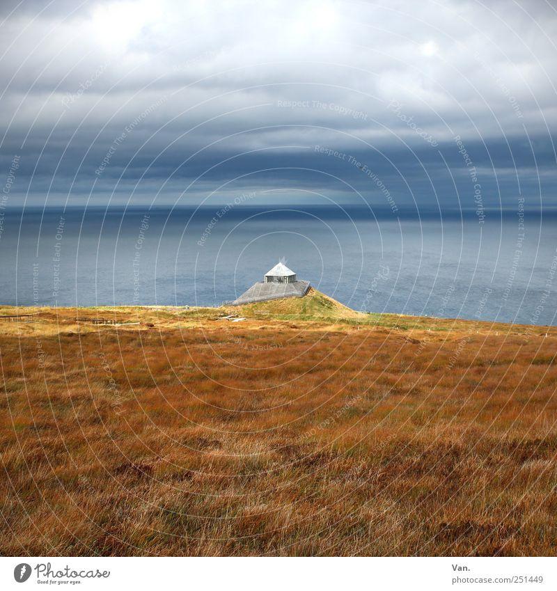 Céide Fields Himmel Natur Wasser blau schön rot Ferien & Urlaub & Reisen Meer Wolken ruhig gelb Landschaft Gras Küste Luft Ausflug