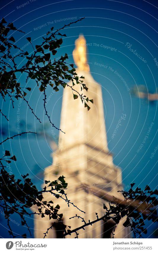 gold in blau Farbe Architektur Gebäude glänzend ästhetisch Europa Kultur Turm Bauwerk Stadtzentrum Reichtum gerade England Blauer Himmel