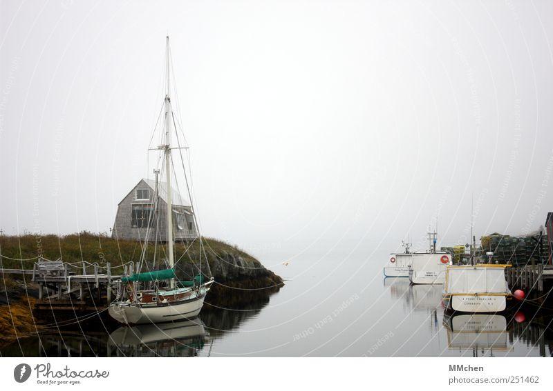 Blue Rocks Wasser weiß Meer Ferien & Urlaub & Reisen Haus Küste Freizeit & Hobby Nebel warten Ausflug liegen Tourismus Hafen Seeufer Bucht Hütte