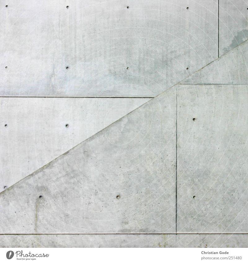Ortho und Dia Menschenleer Haus Bauwerk Gebäude Architektur Mauer Wand Treppe Fassade Stein Beton Sauberkeit Linie Plattenbau Schallplatte Betonplatte