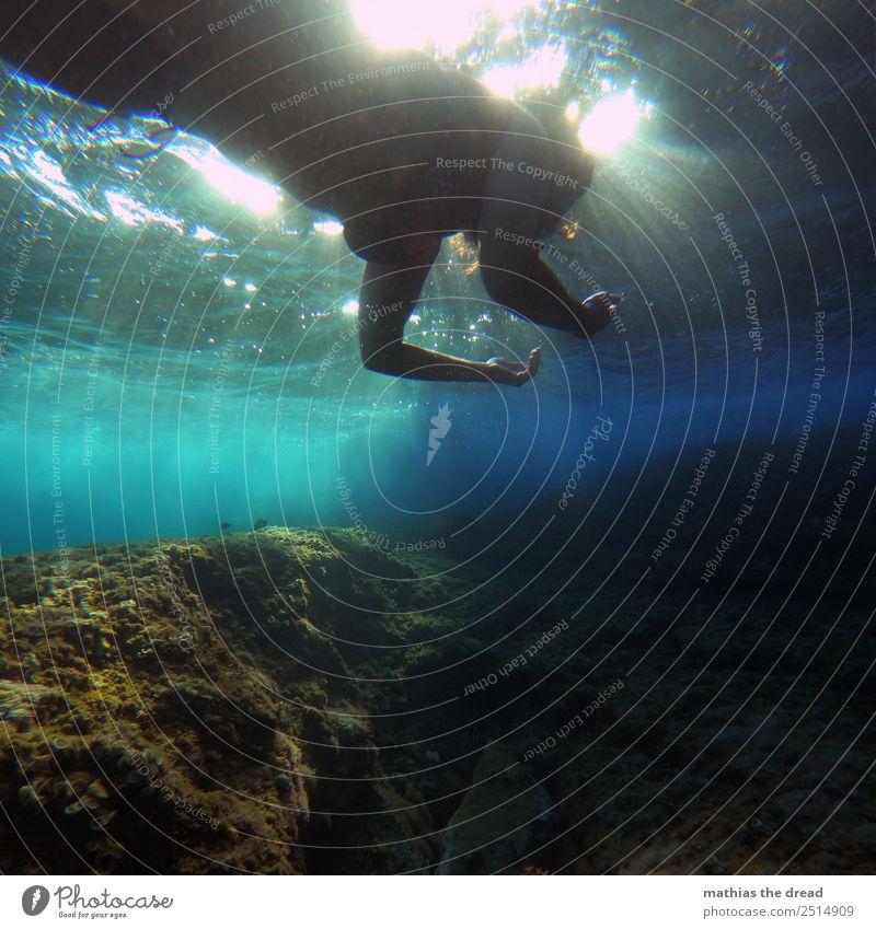 UNTER DEM MEER Ferien & Urlaub & Reisen Jugendliche Junge Frau Wasser Meer feminin Tourismus außergewöhnlich Schwimmen & Baden ästhetisch Abenteuer
