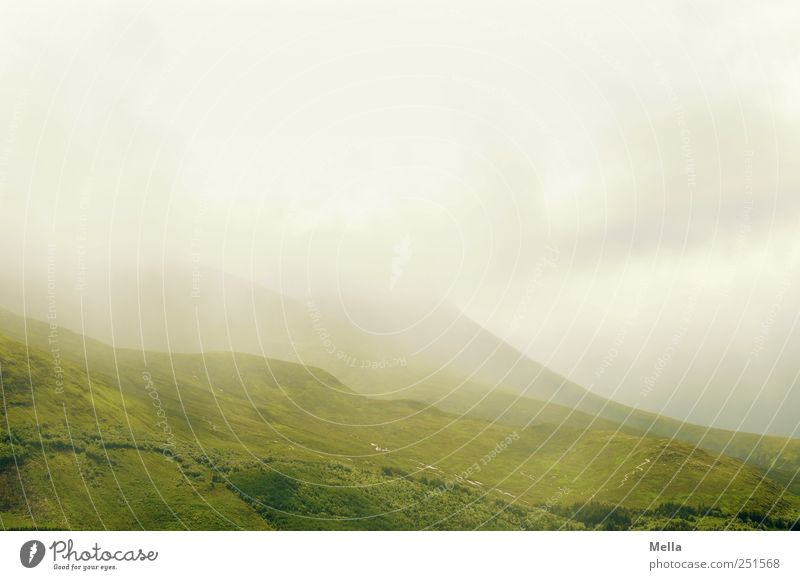 Another Green and Grey Umwelt Natur Landschaft Wolken Klima schlechtes Wetter Nebel Hügel Berge u. Gebirge natürlich grau grün Schottland Highlands Farbfoto