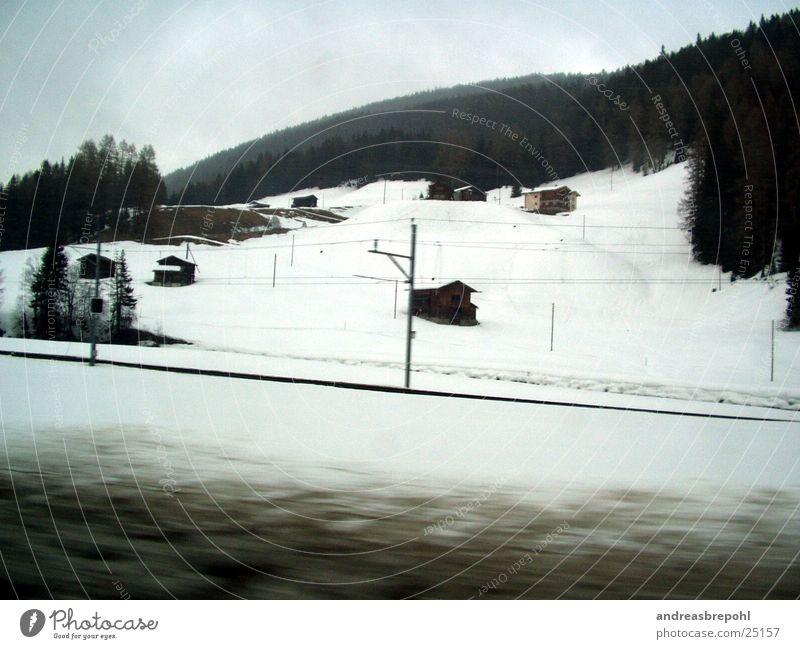 Schmutzige Schweiz weiß Winter kalt Schnee Berge u. Gebirge Bewegung dreckig Geschwindigkeit