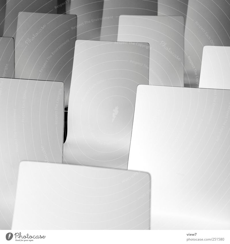Publikum Innenarchitektur Möbel Stuhl Büroarbeit Arbeitsplatz authentisch einfach elegant frisch kalt modern neu positiv Sauberkeit weiß Beginn Ordnung