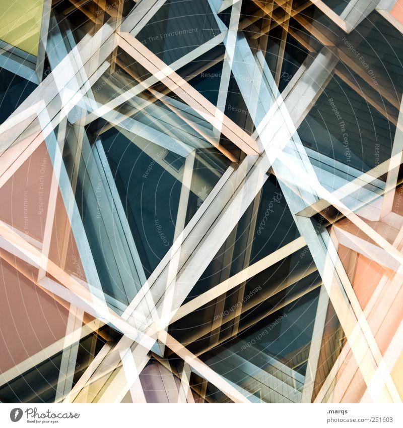 Decompose Linie außergewöhnlich chaotisch Dynamik Fassade Autofenster einzigartig modern Labyrinth eckig Surrealismus verrückt trendy Zukunft glänzend Geometrie