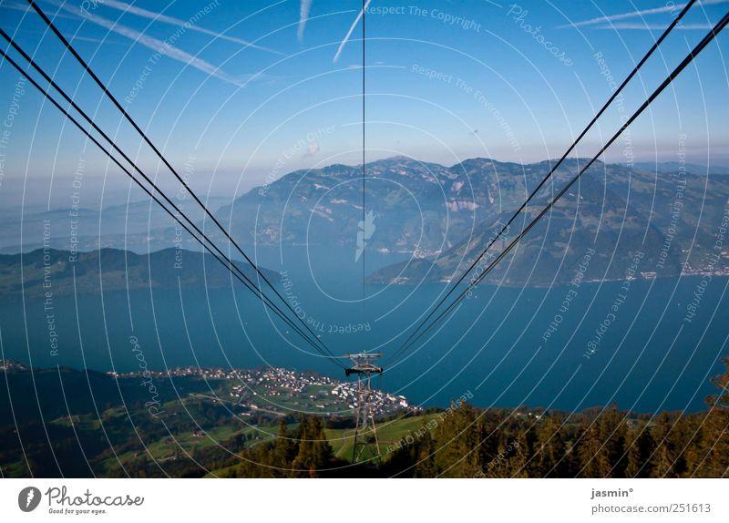 hoch hinaus Himmel Freude Leben Umwelt Berge u. Gebirge Horizont Nebel Abenteuer ästhetisch Alpen Gipfel Schönes Wetter