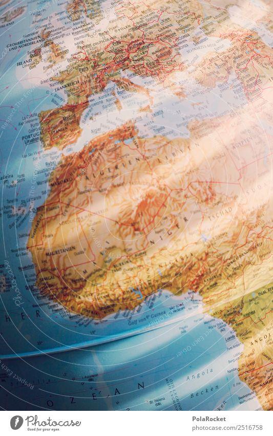 #A# Licht-Planet Kunst Kunstwerk ästhetisch rosa Erde Globus Kontinente Afrika Europa Weltkarte global Globalisierung Globalisierungsgegner Lichtspiel Farbfoto