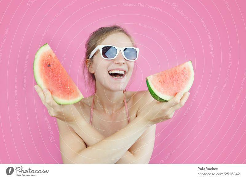 #A# Rosa-Rotes Wasser Kunst ästhetisch Melone Melonen Melonenschiffchen Sommer Sommerurlaub sommerlich Sommerferien Sommertag rosa Frucht Erfrischung Farbfoto