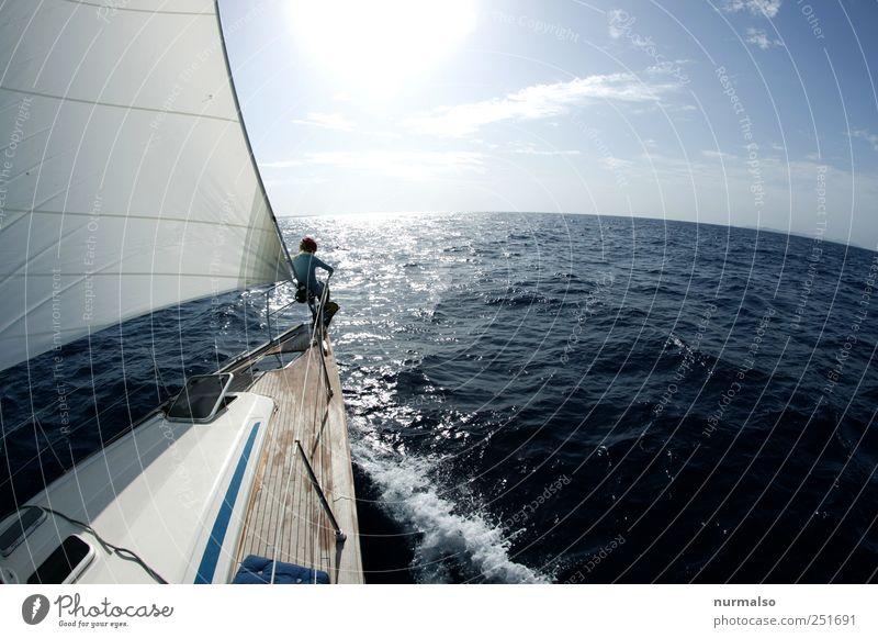 die Welt voraus II Natur Wasser Sommer Ferien & Urlaub & Reisen Meer Freude Ferne Erholung Freiheit Stimmung Kunst Wellen Freizeit & Hobby Wind Abenteuer