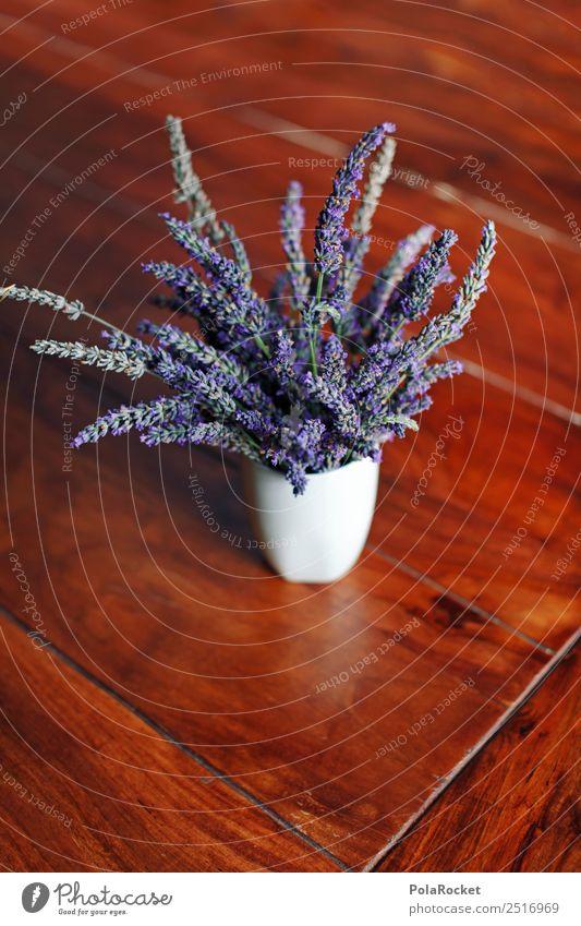 #A# Lavendel auf dem Tisch Natur ästhetisch Lavendelernte Vase Blume violett Frankreich Provence Dekoration & Verzierung Blüte Farbfoto Gedeckte Farben