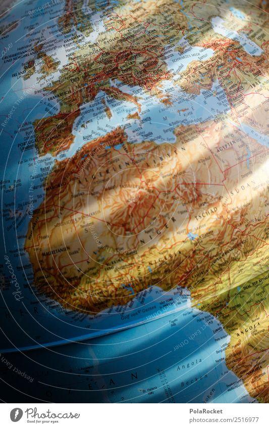 #A# Erdstreifen Kunst ästhetisch Erde Globus Planet global Globalisierung Globalisierungsgegner Kontinente Afrika Europa Deutschland Weltkarte Fernweh
