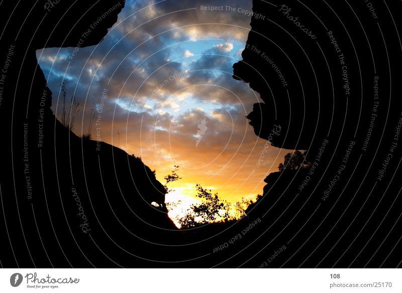 Am Busen der Natur Himmel Sonne Berge u. Gebirge mystisch Märchen Sächsische Schweiz
