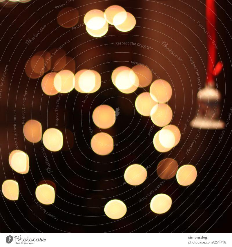 kling glöckchen Feste & Feiern Baum hängen leuchten Fröhlichkeit Gefühle Stimmung Euphorie Warmherzigkeit Frieden Tanne Weihnachtsbaum Glocke Lichterkette