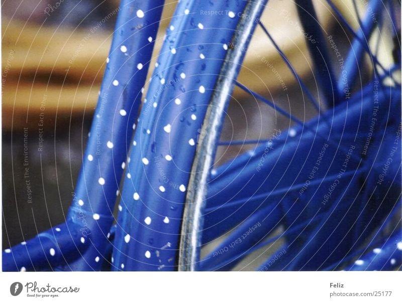 Mein Fahrrad Fototechnik Punkt blau Detailaufnahme außergewöhnlich