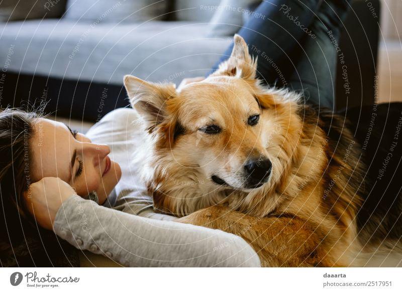 Hund Tier Freude Lifestyle Wärme Leben Liebe Gefühle feminin Stil Freiheit Stimmung Häusliches Leben Design Freizeit & Hobby träumen