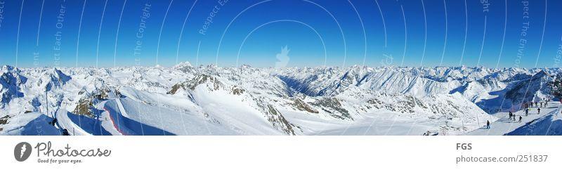 Pitztal #1 Mensch Natur Ferien & Urlaub & Reisen Erholung ruhig Freude Winter kalt Schnee Menschengruppe Zufriedenheit Freizeit & Hobby Gipfel fahren Alpen Schneebedeckte Gipfel