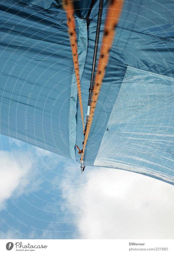 Himmelszelt Natur Ferien & Urlaub & Reisen blau Sommer Erholung Einsamkeit Freude Umwelt Zufriedenheit leuchten Idylle Lebensfreude Seil Abenteuer Zusammenhalt