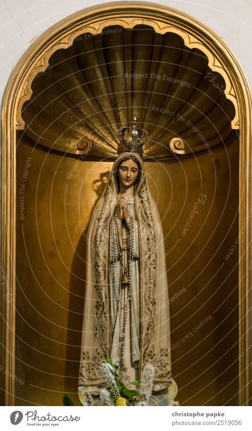 Heilige Mutter Gottes! Ferien & Urlaub & Reisen alt Religion & Glaube feminin Holz Kunst gold Kirche Städtereise Figur Skulptur Christentum Gebet Katholizismus