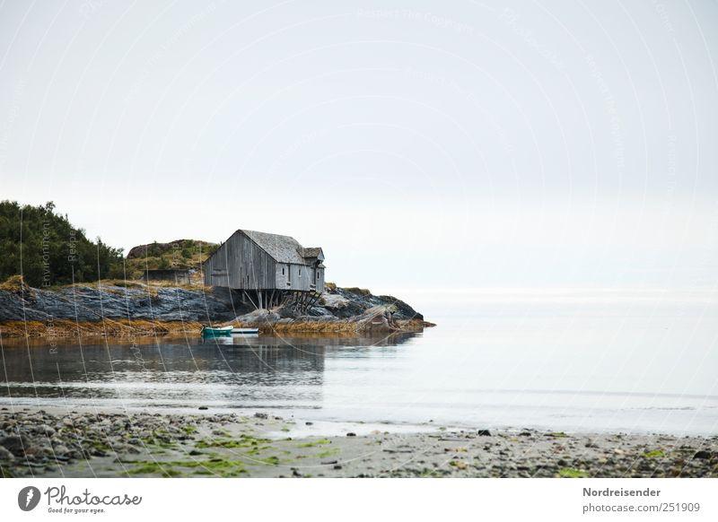 Was braucht ein Mensch? Himmel Natur ruhig Einsamkeit Haus Erholung Landschaft Holz Architektur Sand Küste Zeit Klima Lifestyle Häusliches Leben einzigartig
