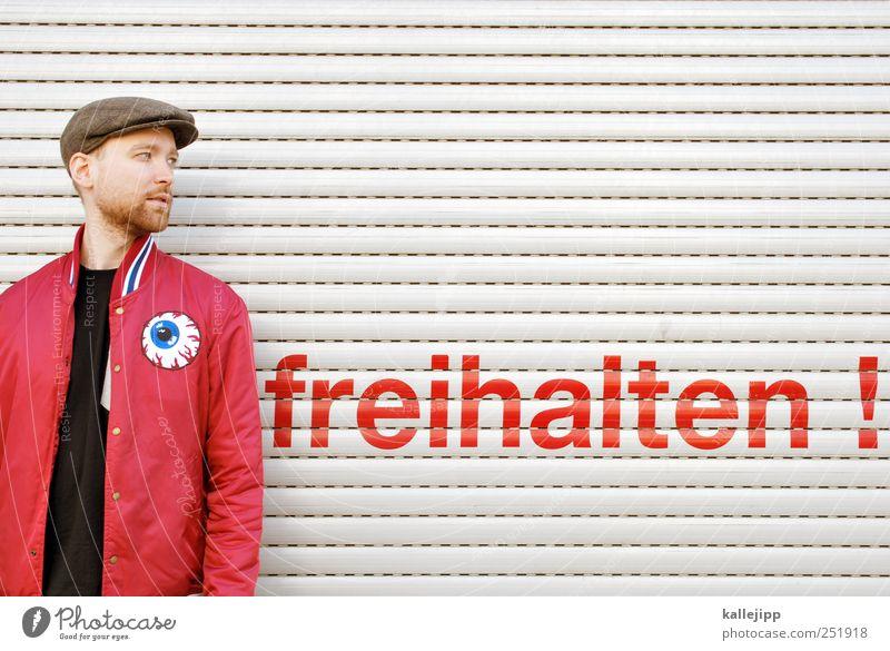 die gedanken sind frei Mensch Mann Jugendliche Erwachsene Freiheit Kopf Stil Mode maskulin Schriftzeichen Lifestyle Bekleidung Hinweisschild 18-30 Jahre Hut Jacke
