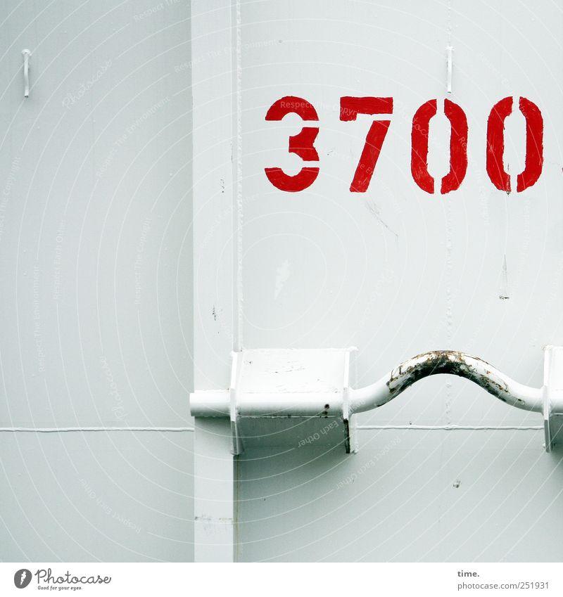 Künstlerisches Schwergewicht | Glückwunsch, Kalle! weiß rot Farbstoff Metall hell Ordnung authentisch Metallwaren Sauberkeit Ziffern & Zahlen leuchten parallel