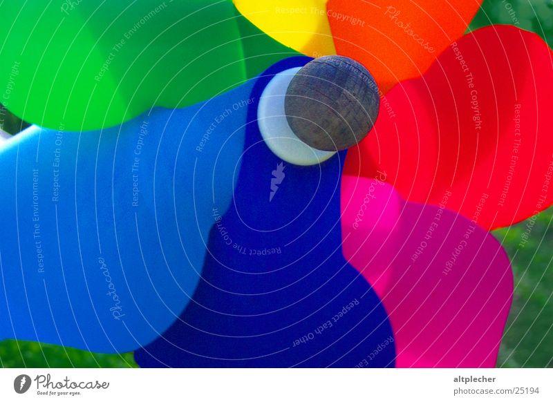 Windrad mehrfarbig Farbe Spielzeug Spielen Freude