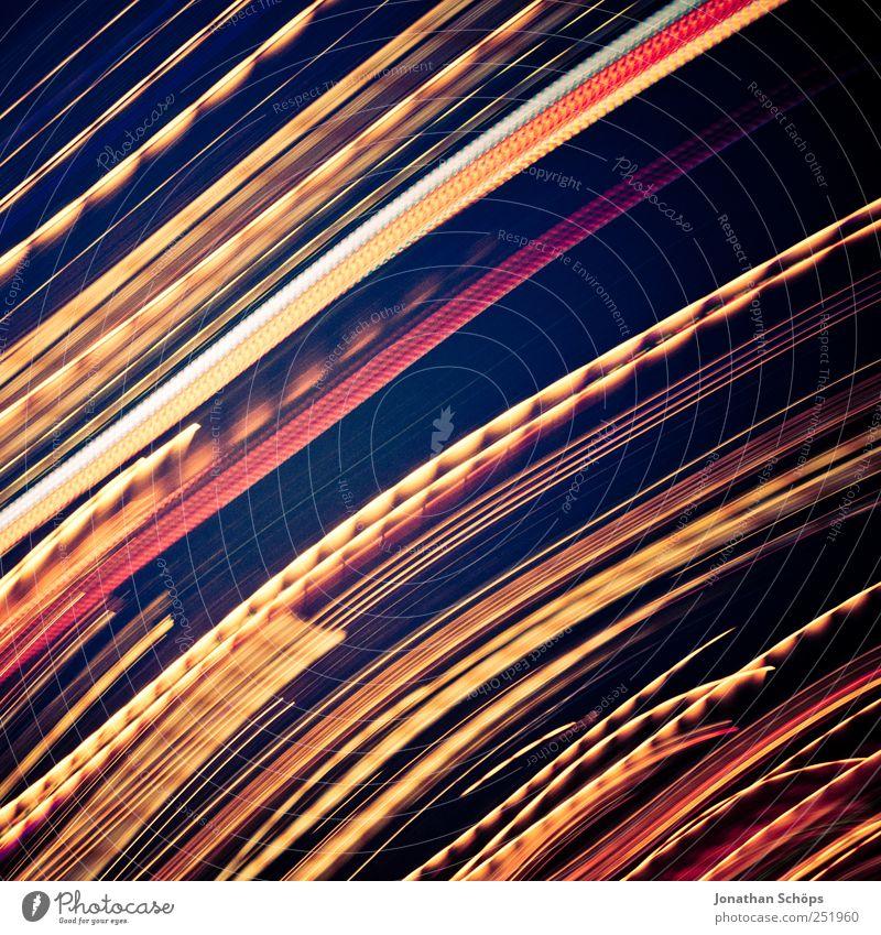 Blackpool Illuminations III blau rot gelb Gefühle Bewegung Linie Energie ästhetisch Geschwindigkeit Energiewirtschaft Elektrizität violett Rauschmittel Dynamik
