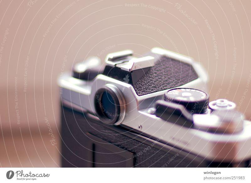 old nikon fm alt weiß schwarz grau Lifestyle Zeit Metall Freizeit & Hobby ästhetisch Technik & Technologie Fotografie Technikfotografie Fotokamera trendy