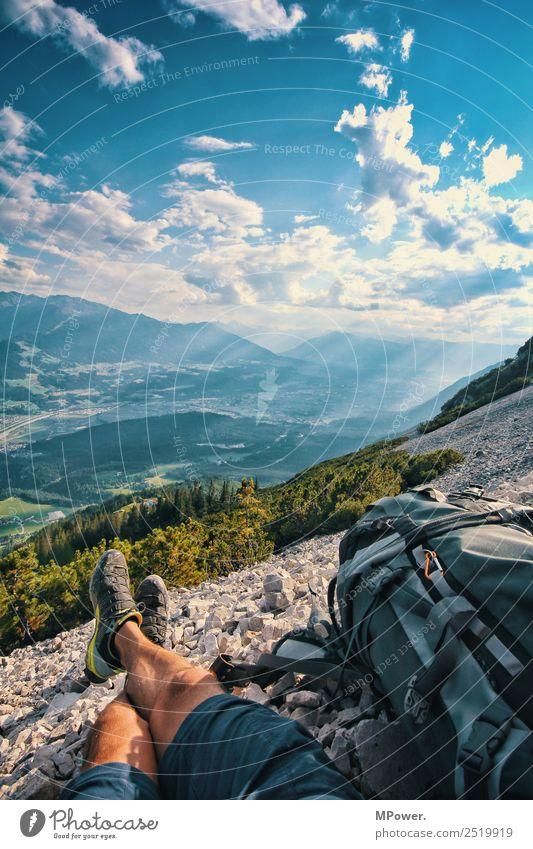auf dem hundskopf wandern Freizeit & Hobby Mensch Umwelt Wald Felsen Alpen Berge u. Gebirge Gipfel stehen steinig Wege & Pfade Ferien & Urlaub & Reisen