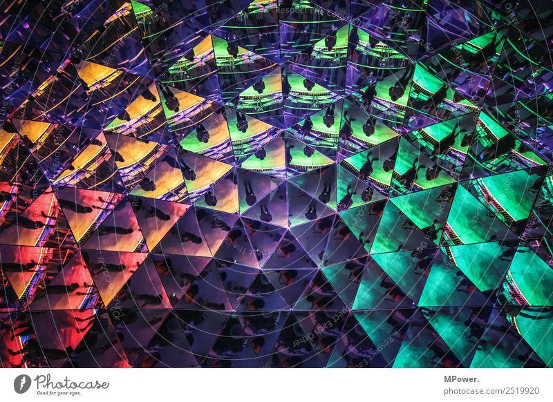 triangles Architektur blau Spiegel mehrfarbig Dreieck Spiegelbild Farbfoto Innenaufnahme Muster Strukturen & Formen Licht Reflexion & Spiegelung