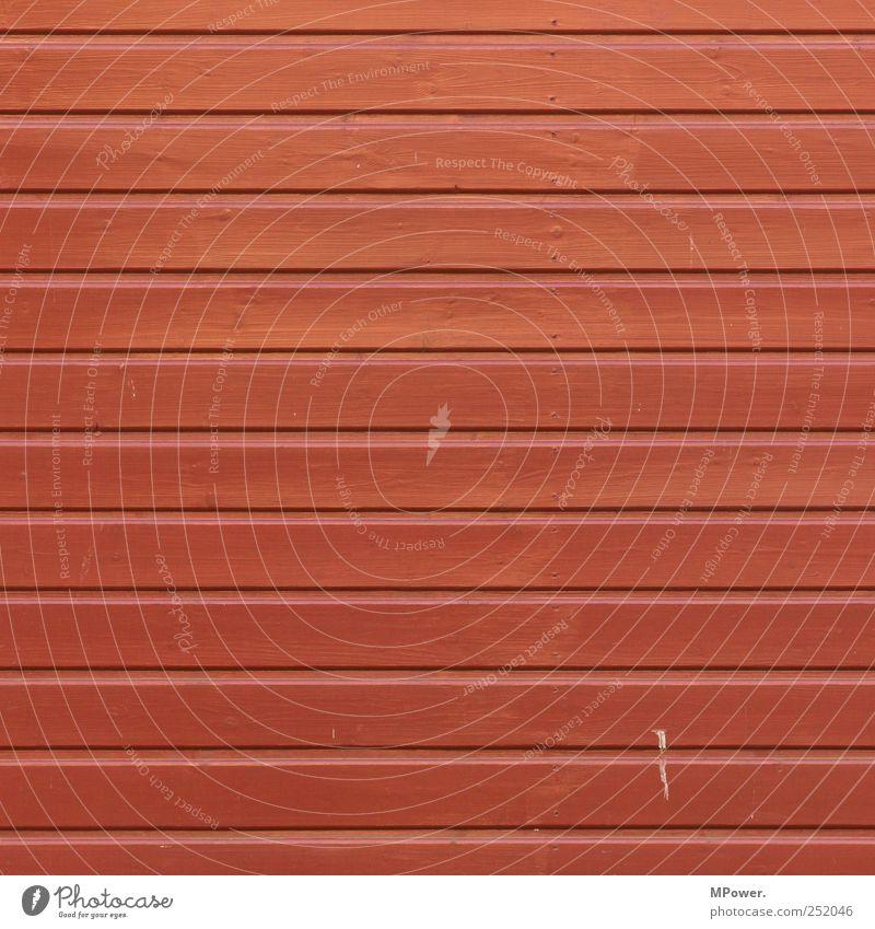 bois rouge Haus Hütte Fassade rot Holz Holzbrett Verbundenheit gestrichen schrauben Wand Quadrat Streifen Muster dreckig Farbstoff Strukturen & Formen Maserung
