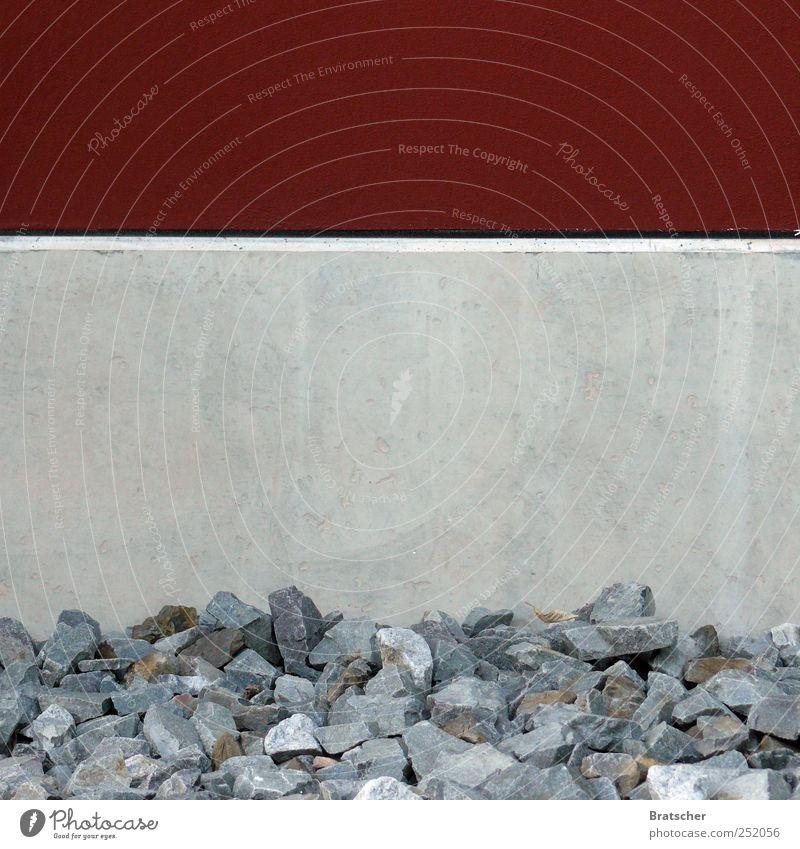 Textfreiraum, Beton Stein Ecke Streifen horizontal Textfreiraum Mitte Textfreiraum oben entladen Niveau füllen abstellen Graffiti grau rot