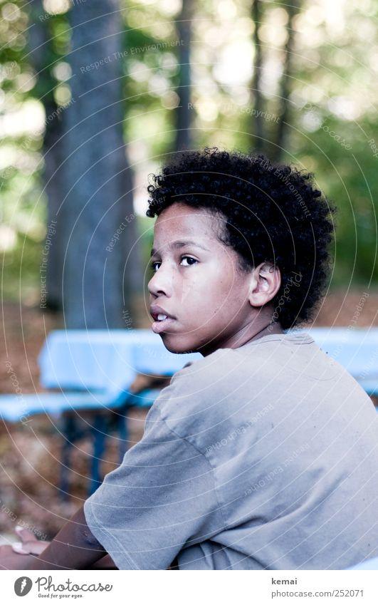 [CHAMANSÜLZ 2011] Lockiges Haar Mensch Kind Jugendliche ruhig schwarz Auge Leben Junge Kopf Haare & Frisuren träumen braun Kindheit Mund Nase maskulin
