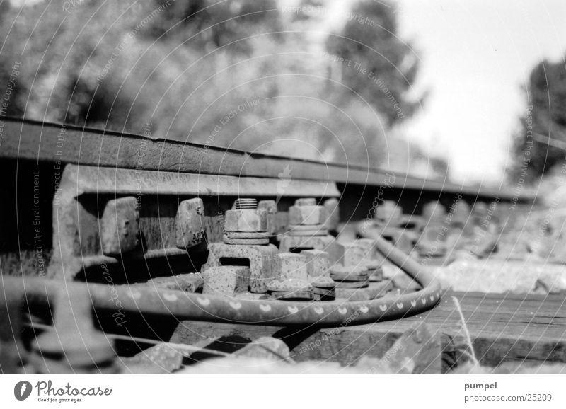 nebengleis Gleise Verkehr Eisenbahn Kies