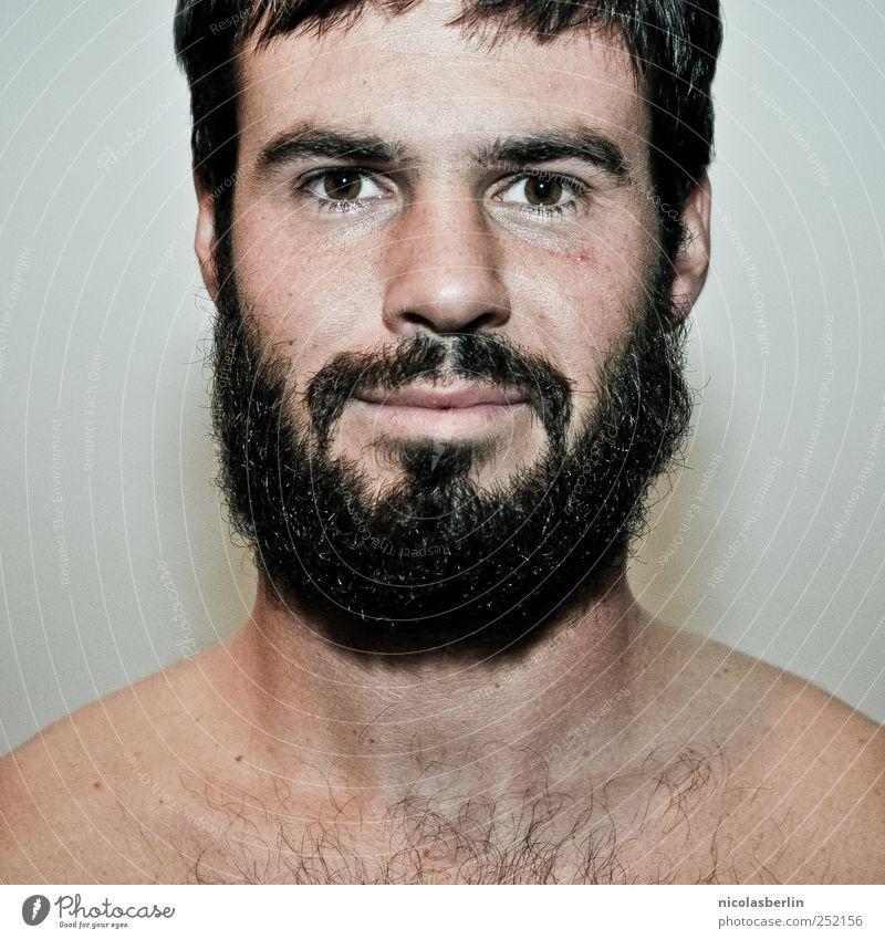 Montags Portrait 08 schön Gesicht Mensch maskulin Junger Mann Jugendliche Erwachsene Bart 1 18-30 Jahre schwarzhaarig kurzhaarig Oberlippenbart Vollbart