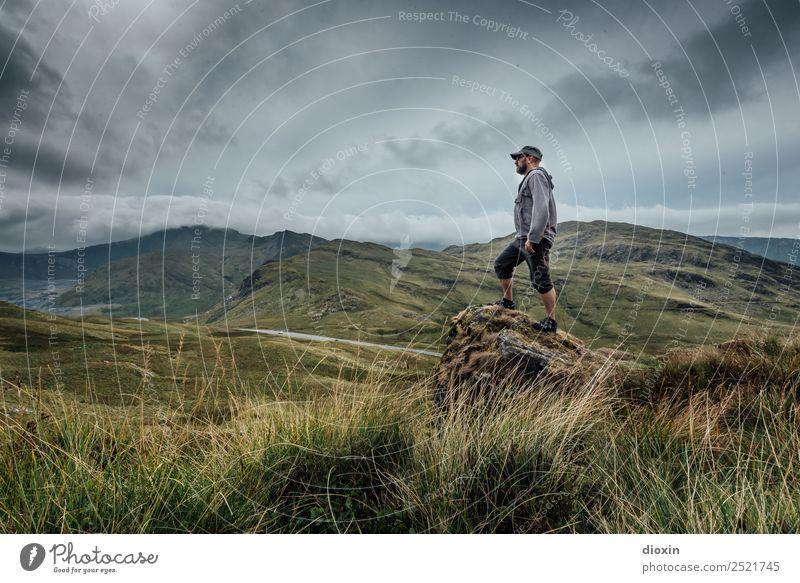 Snowdonia Ferien & Urlaub & Reisen Tourismus Abenteuer Ferne Freiheit Mensch maskulin Mann Erwachsene 1 45-60 Jahre Umwelt Natur Landschaft Pflanze Urelemente