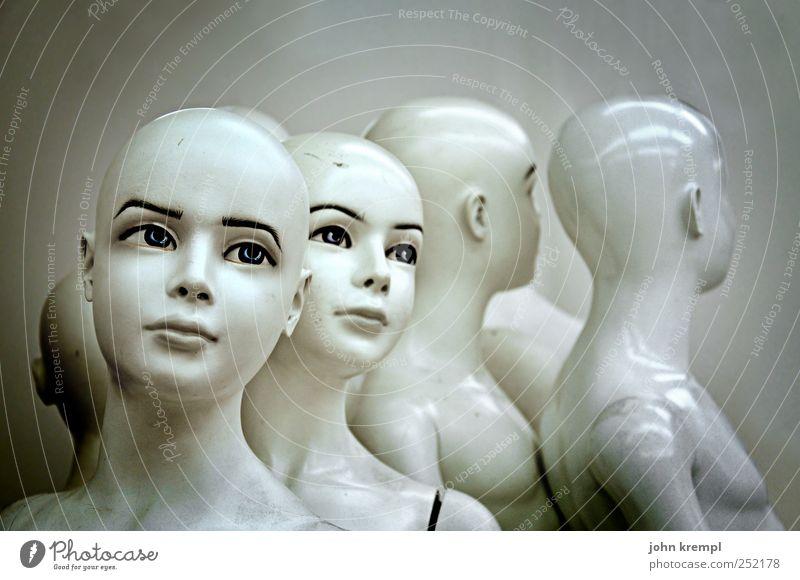 GNTM weiß Auge grau Kopf ästhetisch stehen Kunststoff trendy Handel Schaufensterpuppe Gesicht Mensch