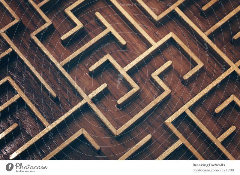 dunkel Holz Spielen Denken braun Freizeit & Hobby retro Kreativität Symbole & Metaphern Spielzeug Barriere altehrwürdig Entwurf finden Rätsel verirrt
