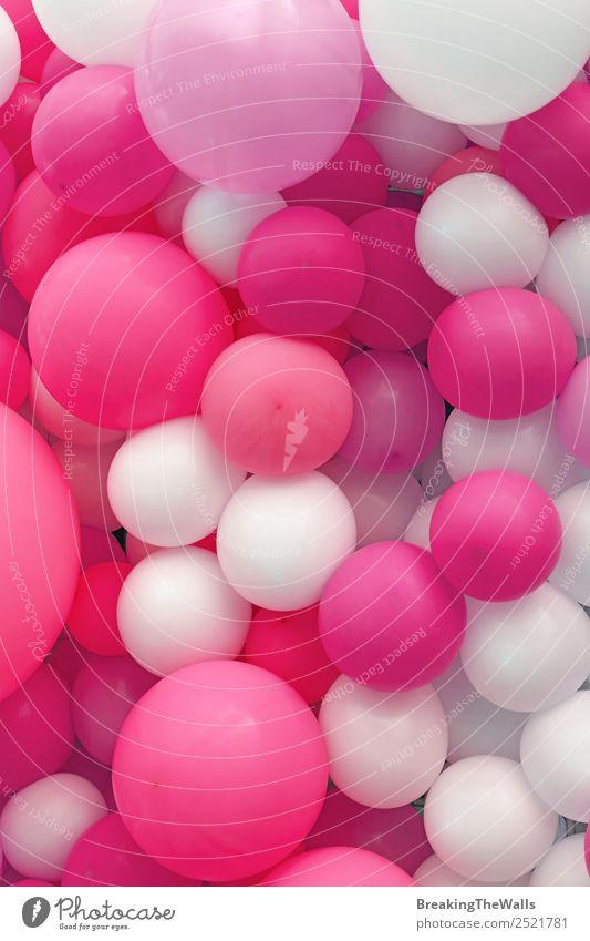 Nahaufnahme des Hintergrundes von violettrosa und weißen Luftballons Freude Feste & Feiern rot Farbe Konsistenz festlich purpur Konfektionsgröße Feiertag